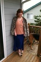 Forever 21 dress - Forever 21 coat - Forever 21 sweater - Ross pumps