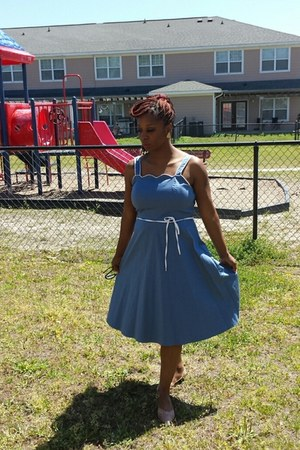 sky blue Goodwill dress