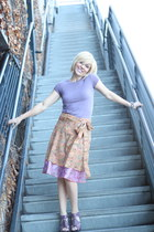 wrap skirt skirt - light purple sweater shirt