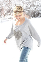 studded heart Tobi sweater