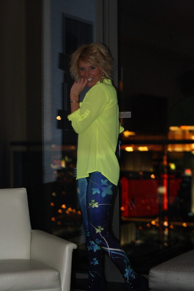 neon Express top - booties Forever 21 boots - leggings