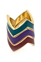 chevron zigzag ring
