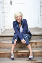 polka dot abercrombie and fitch pants - tommy girl blazer