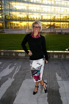 Target sweater - butterfly Ana skirt - H&M glasses
