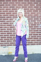 leopard brights jacket - purple purple Kenneth Cole pants