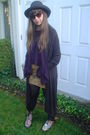 Gray-victorias-secret-cardigan-purple-victorias-secret-top-brown-express-ski