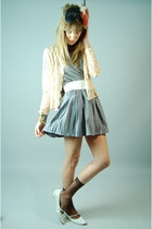 American Apparel shirt - Target socks - vintage from she hearts vintage skirt -