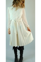 ivory she hearts vintage dress - black Jeffrey Campbell boots