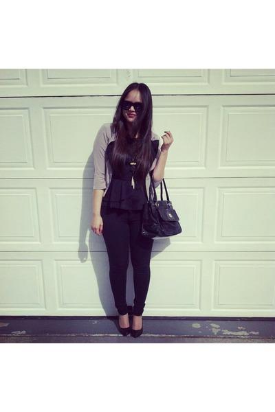 Agaci blazer - thrift sunglasses - Target pants - H&M heels