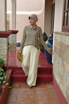 Milcah pants - Triset sweater - Cotton Ink purse - Kloom wedges