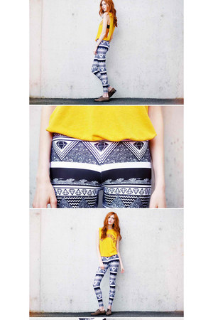 yellow brownie Terrible Movement shirt - gray aztec lovely sally leggings