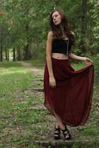 maxi sheer Forever 21 skirt