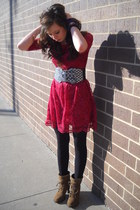 ruby red lace Rue 21 dress