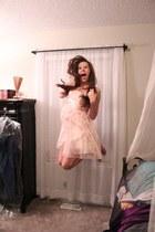 light pink flowy borrowed dress
