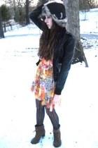 gold Rue 21 dress - light brown Mia boots