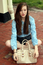 light blue denim acid Rue 21 blouse
