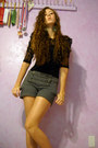 Beige-tweed-playdoughs-closet-shorts-black-lace-macys-blouse