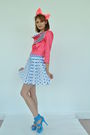 Pink-shelley-menton-jacket-blue-shelley-menton-skirt