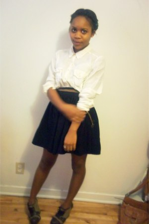Aldo shoes - H&M shirt - Forever 21 belt - skirt