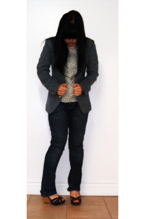 farah blazer - top - American Eagle jeans - Old Navy shoes