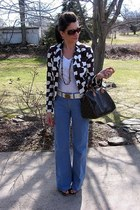 dark brown Betsey Johnson blazer - dark brown speedy Louis Vuitton bag - Premier