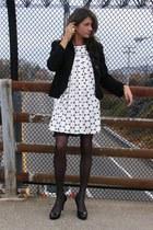 black Forever 21 dress - black banana republic blazer - Tahari shoes