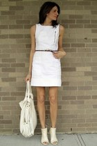 white French Connection dress - white Target bag - cream BCBG heels