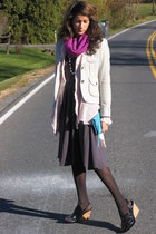 heather gray banana republic blazer - gray Jcrew dress - pink united colors of b