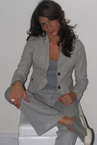 gray banana republic blazer - gray banana republic top - gray banana republic pa