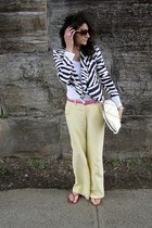 H&M jacket - light yellow Armani Exchange pants - bubble gum Armani Exchange bel