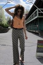 light orange shirt - vintage pants