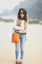 Zara bag - Zara jeans - Salvatore Ferragamo loafers