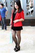 red Zara blazer - black Topshop heels