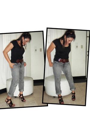 H&M t-shirt - Old Navy pants - michael antonio shoes - Rico belt