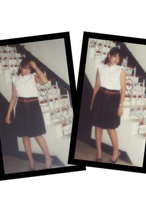 Rico top - Culte Femme skirt - belt - Nine West shoes