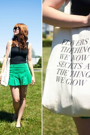 A boutique shorts - fieldguided bag - ray-ban sunglasses - H&M flats