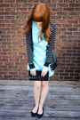 Vintage-dress-vintage-purse-forever21-cardigan-h-m-flats