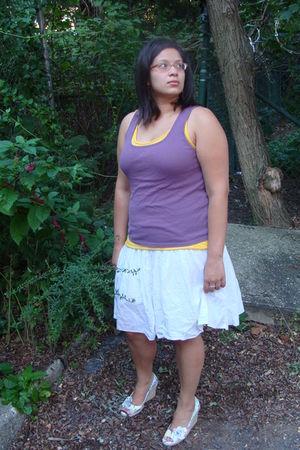 purple Old Navy shirt - white Gap skirt - yellow proenza schouler for target shi