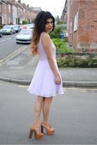 lilac virgos lounge dress - asos heels