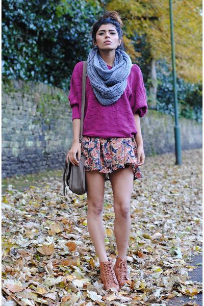 floral skirt vintage skirt - snood Ebay scarf