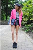 pink blazer Missguided blazer - suede boots Ebay boots
