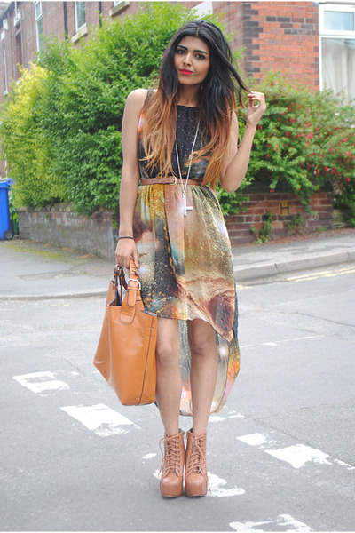 Sheinside dress - Jeffrey Campbell boots - Zara bag