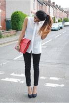topshop jeans Ebay jeans - Ebay bag - Glamorousuk blouse - Zara heels