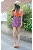 asos heels - Republic hat - orange bralet Republic intimate