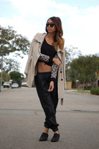 sam edelman boots - PacSun coat - Urban Outfitters pants - Nasty Gal top