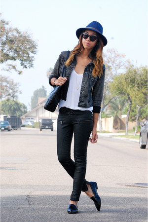 Roxy hat - Forever 21 jacket - Zara pants - asos t-shirt