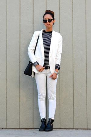 Hudson jeans - asos boots - H&M blazer - Michael Kors bag