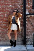 Zara boots - Zara coat - Zara skirt - brandy melville t-shirt