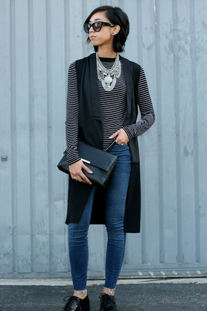 Sheinside vest - asos jeans - H&M bag - Zara loafers - Zara t-shirt