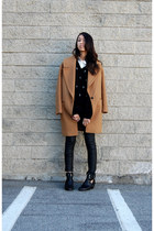Zara coat - asos boots - Reformation sweater - Zara pants